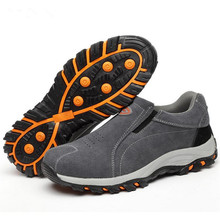 Mens work boots winter new stab-resistant penetrating gas outdoor safety shoes casual labor insurance anti-mite35--46
