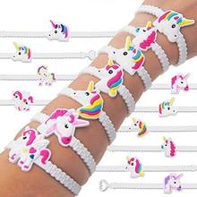 5pcs/set Fashion Children Lovely Animal Unicorn Bracelet Wristband Kids Mix Styles Charm Birthday Party Gift Bracelets cpdb70b31(China)