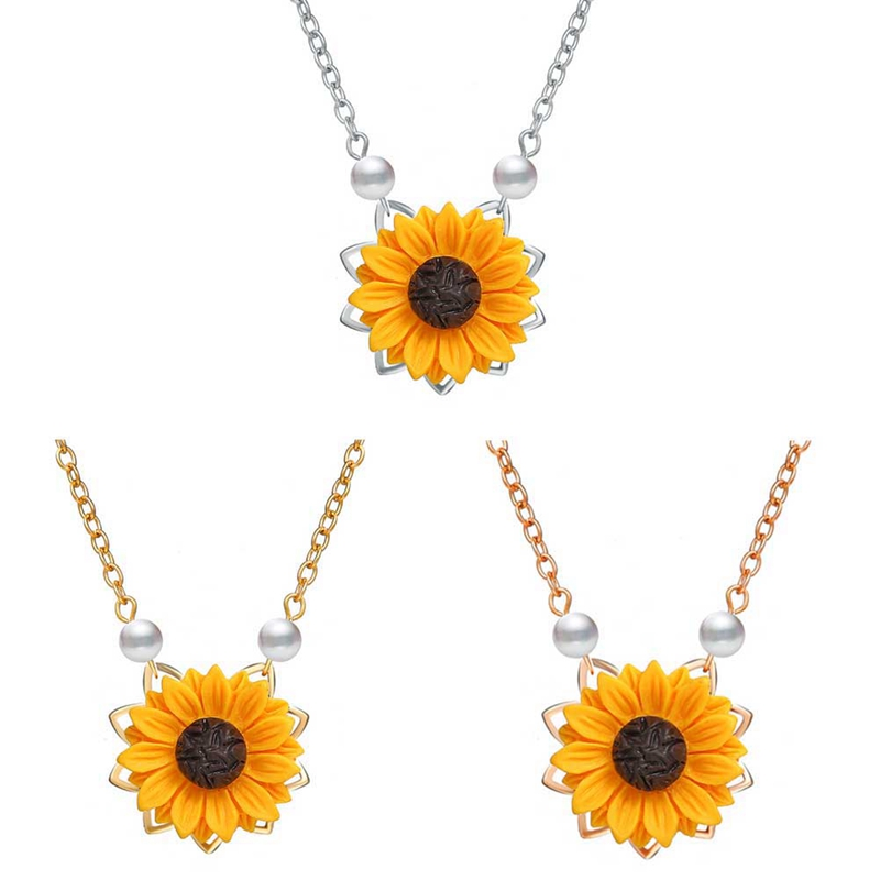 Mini Sunflower Pendant Necklace 1