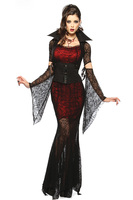 New Gothic Sexy Costume Halloween Dress Costume DS Club Witch Vampire Costume Women Masquerade Party Halloween Cosplay Costume