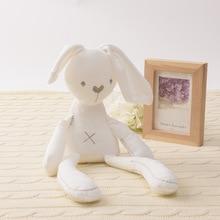 лучшая цена 42cm 2019 Cute Rabbit Doll Baby Soft Plush Toys For Children Bunny Sleeping Mate Stuffed &Plush Animal Baby Toys For Infants Hot