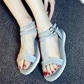 Летние сандалии плоским краткое моды зоны комфорта женская обувь все-матч сандалии с открытым носком тапочки
