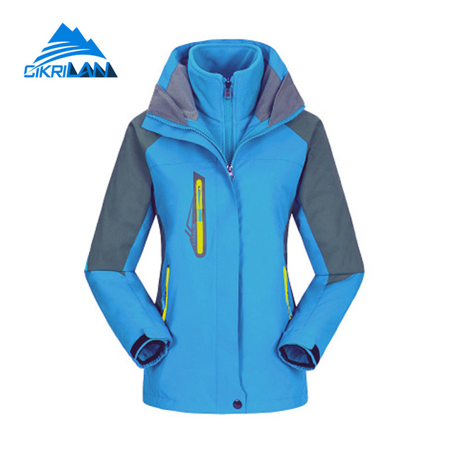2ed31f39a Hot Sale Outdoor Sport Ski Hiking Trekking 3in1 Winter Jacket Women Warm  Fleece Inner Coat Camping Windstopper Chaquetas Mujer