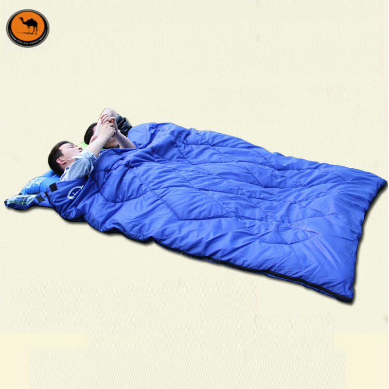 Sam Camel double adult sleeping bag autumn and winter warm sleeping bag outdoor camping lovers sleeping bag cotton filler
