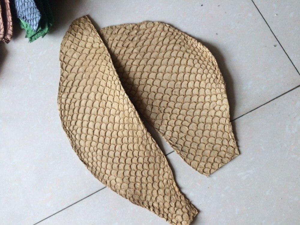 Натуральной рыбьей кожи для обуви, светло желтый цвет натуральной кожи рыбы, fl-07