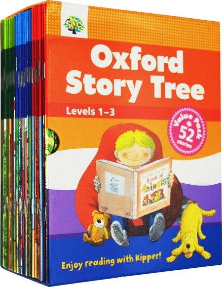 1 Juego de 52 libros de 1 a 3 niveles de Oxford historia árbol inglés libros de cuentos de jardín de infantes bebé lectura Foto Libro educativo juguetes de los niños    1