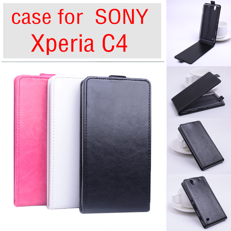 factory authentic ce754 f7406 US $5.49 |For SONY Xperia C4 E53 Business Leather Skin Flip Vertical Case  Phone Bag For SONY C 4 Old School Retro Durable Tough Back Cover on ...
