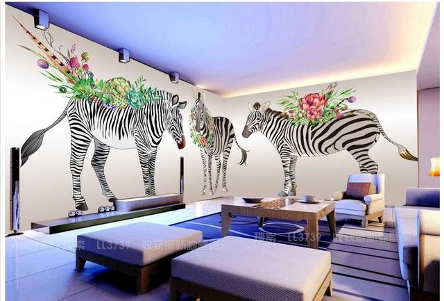 Behang Kinderkamer Zebra : D behang custom d muurschildering wallpaper d cartoon