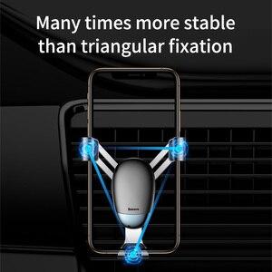 Image 3 - Baseus מיני הכבידה טלפון מחזיק אוויר Vent רכב הר מחזיק עבור טלפון במכונית מחזיק טלפון Stand עבור iPhone X XS סמסונג S9