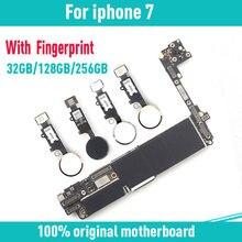 32 Гб 128 ГБ 256 ГБ для iphone 7 4,7 дюймов материнская плата с/без Touch ID, оригинальный разблокирован для iphone 7 материнская плата с чипами