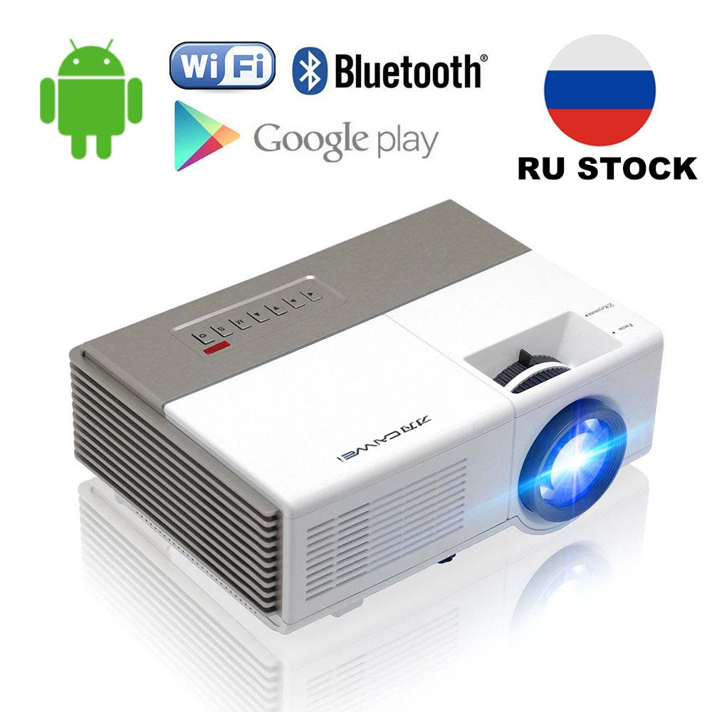 CAIWEI Portable Android WiFi Home Theater LED Projector Bluetooth Wireless HD Video Movie