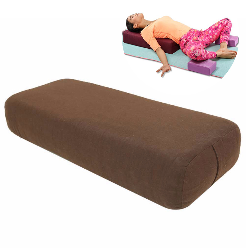 Cotton Cover Yoga Pillow High-density TPE Foam Lining Yoga Block Exercise Fitness Gym Slimming Yoga Mat Yoga Pillow