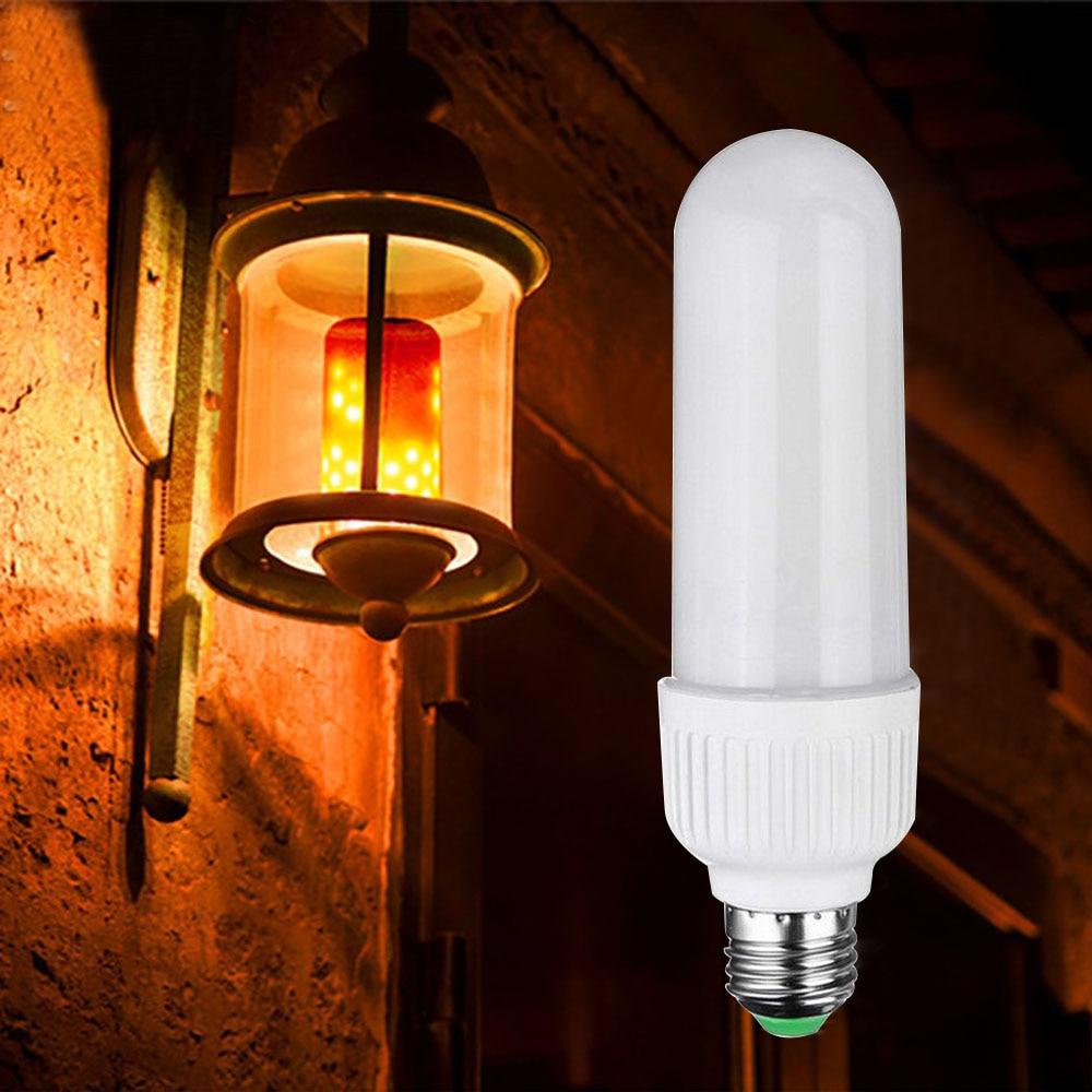 Купить с кэшбэком 2-pack Dynamic Flame Effect E27 LED Bulb Lamp AC100V-265V Emulation Fire Burning Flicker Bulb light Christmas Holiday lights