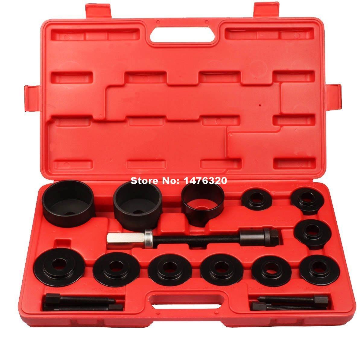 Universal Car Front Wheel Drive Hub Bearing Instatllation Removal Repair Garage Tool Kit AT2012 19pcs master front wheel hub drive bearing removal install service tool kit