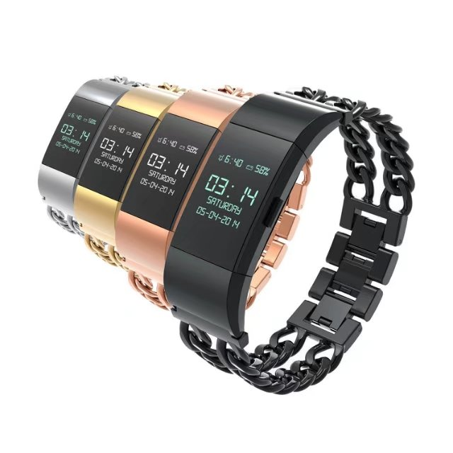 For Fitbit Charge 2 Band Replacement Metal Stainless Steel Link Chain Watch Band Strap Black Gold Silver Rose Gold stainless steel strap link remover for fitbit charge 2 smart watch band wrist chain bracelet black rose gold silver colorful