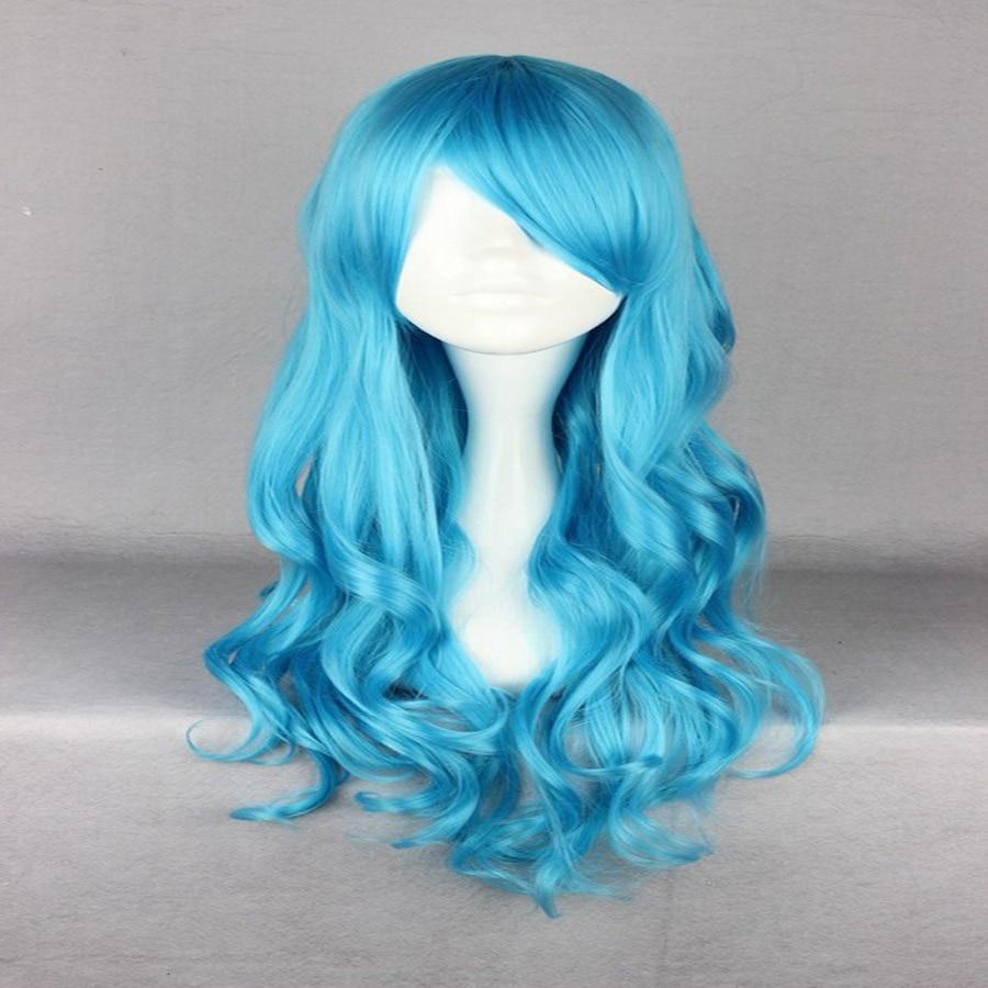 HAIRJOY Synthetic Hair Zipper 70cm Long Wavy Harajuku Lolita Cosplay Wig 18 Colors Available 110