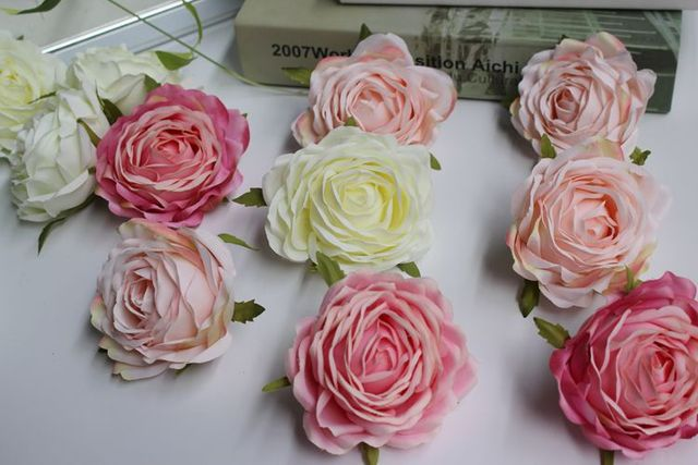 High quality artificial silk rose head home party decorative flower high quality artificial silk rose head home party decorative flower wedding arch backdrop decoration junglespirit Gallery