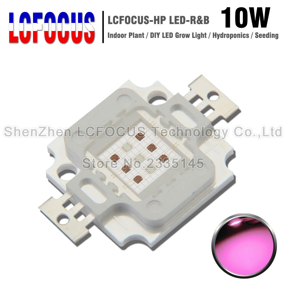 LED Grow Light 10W Deep Red 660NM + Royal Blue 440NM COB SMD Diode Lamp Bulb For Indoor Plant Vegetables Fruit Seeding Growing
