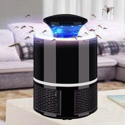 ETONTECK urządzenie przeciw komarom USB elektryczna lampa zabijająca komary fotokataliza wyciszenie domu odstraszacz insektów led owad pułapka Radiationless w Lampy na komary od Lampy i oświetlenie na