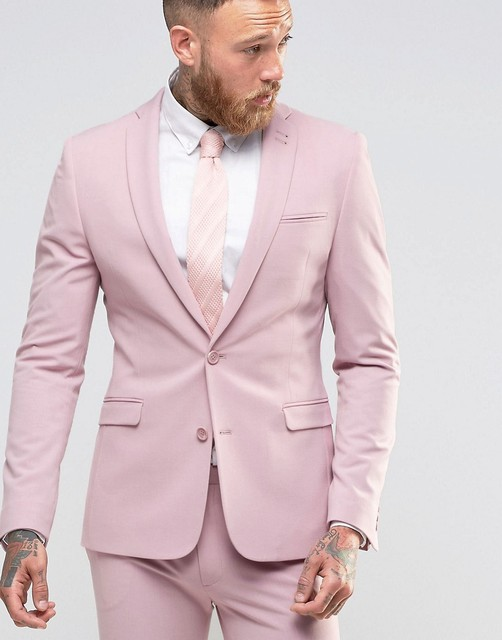 2016 New Arrival Pink Beach Wedding Prom Suits For Men 2 Pieces ...
