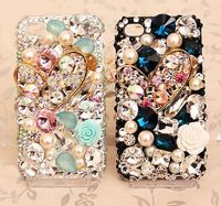 Sparkling Love Heart Gem Bling Crystal Case Cover For Apple Iphone 7 7Plus 6 6S Plus
