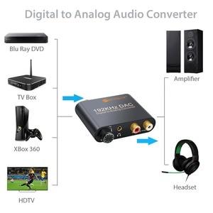 Image 4 - Prozor digital ao conversor de áudio analógico rca 3.5mm jack coaxial toslink para estéreo analógico 192khz conversor de alumínio dac adaptador