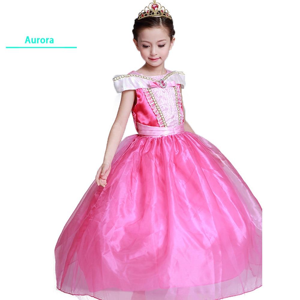 langes Mädchenkleidprinzessin-Schlafschönheit formales Kleid - Kinderkleidung - Foto 1