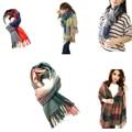2016 Fashion Wool Winter Scarf Warm Scarf Plaid Thick Shawls Scarves Clothing Accessories