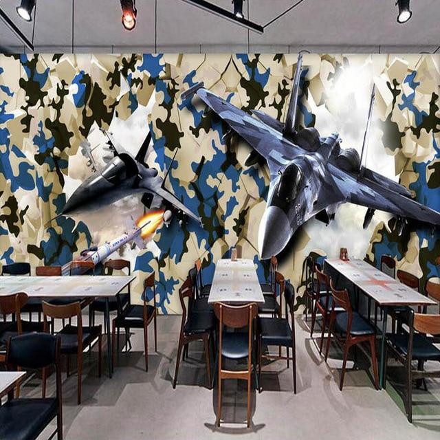 Carta Da Parati Mimetica.Murale Personalizzato Cafe Bar Negozio Di Abbigliamento Verde