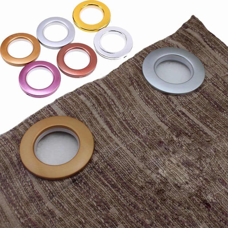 8 pieces anneaux en plastique oeillets pour rideaux oeillet haut decoration de la maison ronde en forme de rideau boucle oeillet anneau accessoires