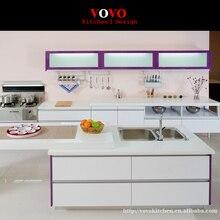 Горячие продаж современные high gloss Белый лак кухонные шкафы настроены модульная кухня мебель