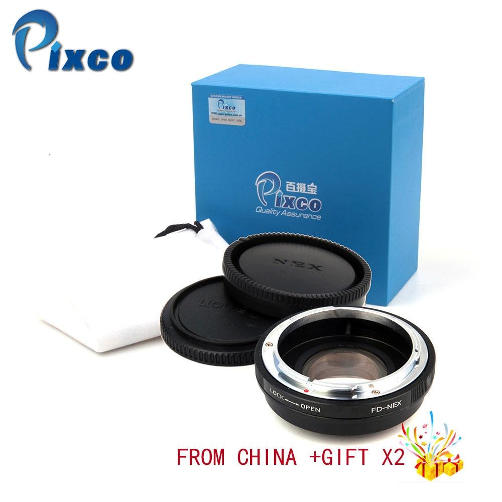 Pixco для FD-NEX фокальный редуктор усилитель скорости Turbo набор адаптеров для объектива Canon FD Крепление к Sony E NEX Камера для дропшиппинг