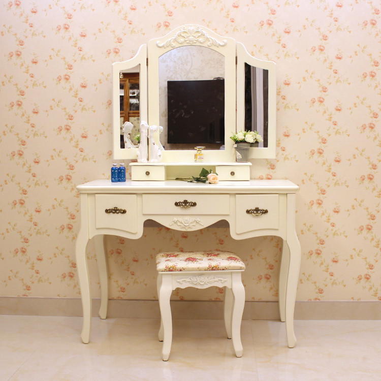European Style Vanity Mirror Dressing Table Dresser Child Simple Modern Fashion White Paint Tables Desk In Dressers From Furniture On