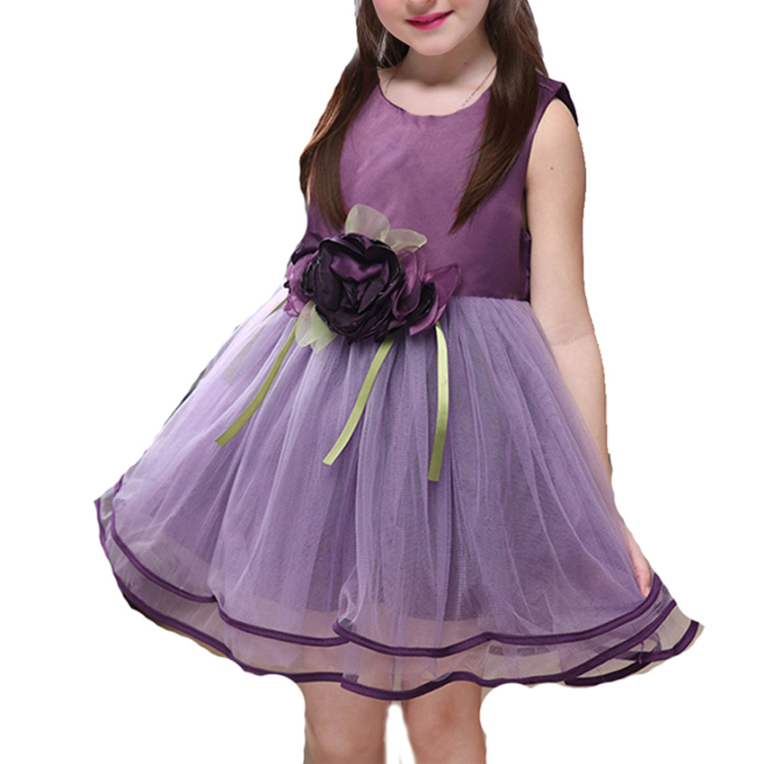 Baby Kids Girls Dresses 2018 New Summer Flower Princess Dress Cute Wedding Party Dress Children Clothes Sundress 6 8 10 12 Years summer 2017 new girl dress baby princess dresses flower girls dresses for party and wedding kids children clothing 4 6 8 10 year