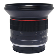 Meike 12mm f/2.8 Ultra Wide Angle Fixed Lens with Removeable Hood for Nikon V1 J1 mount Micro Single Cameras with APS-C
