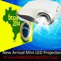Цифровой встроенный аналоговым тв-тюнером из светодиодов видео Projecteur USB жк-hdmi VGA 3.5 мм аудио Proyector дешевой цене