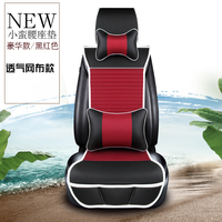 KKYSYELVA 1PCS Front Seat Covers Universal Leather Car Seat Cover for Toyota Skoda Auto driver seat cushion Interior Accessories