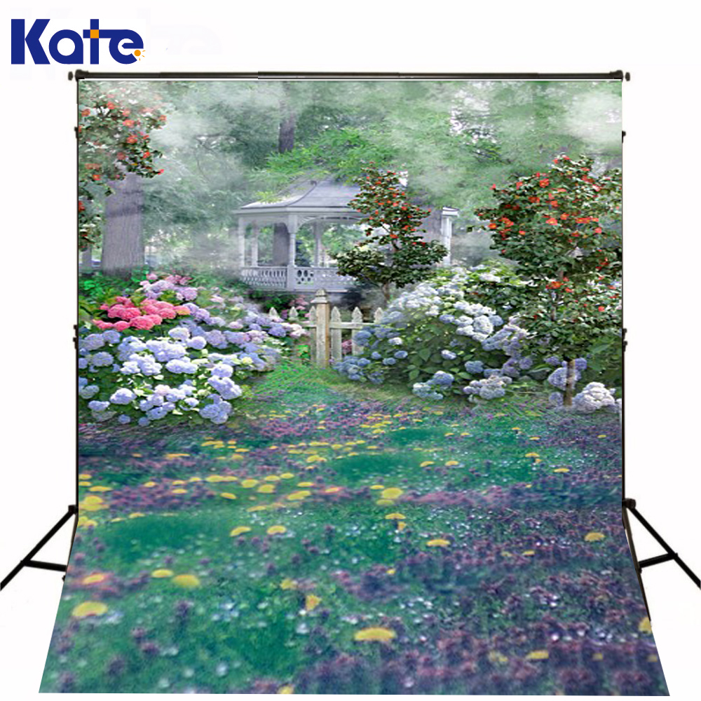 300Cm*200Cm(About 10Ft*6.5Ft) Fundo Fresh Garden Pavilion3D Baby Photography Backdrop Background Lk 2105 300cm 200cm about 10ft 6 5ft fundo red cloud beach birds3d baby photography backdrop background lk 2065