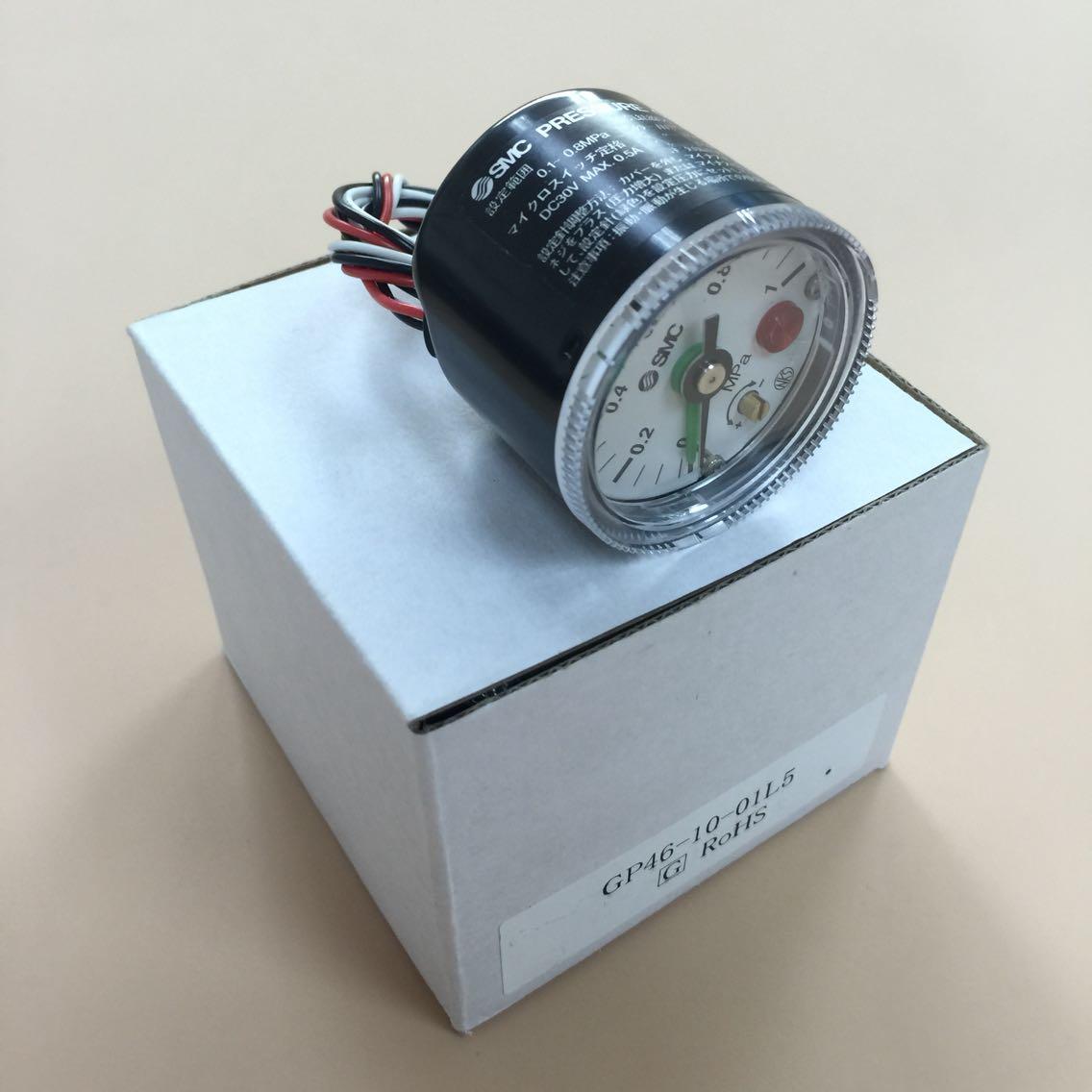 Original SMC Pressure Gauge GP46-10-01L5 GP46-10-01L2 GP46-10-02L5 GP46-10-02L2 2 5mpa pressure gauge yb150a zt
