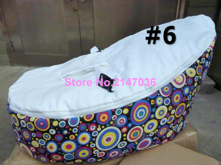 Rainbow DOTS Baby Bean Bags Bed Sleeping Beanbag Chair Newborn Sofa Cama With Harness Filler Do Not Included In Living Room Sofas From