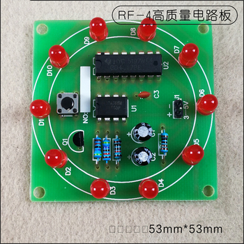 Electronic NE555 CD4017 Wheel Of Fortune DIY Kit Lucky Turntable Welding Training LED Flashing Light Rotary Suite Fun Gift Game electronic component