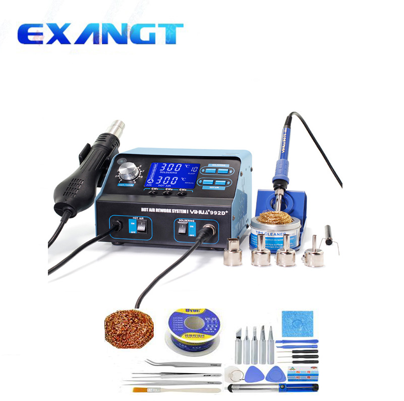 YIHUA 992D SMD Soldering Station Repair Board Rework Station Soldering With Hot Air Soldering Station