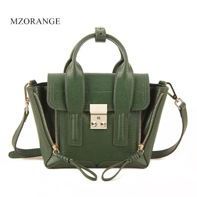 00783ad94b19 MZORANGE Genuine leather women s bag famous designers brand Satchel Mini  monster shoulder bag women handbag 2018