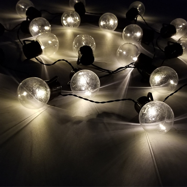 LED G45 Outdoor Globe String Lights Connectable Christmas Fairy Light Ball Bulb String For Party Garland Wedding Decoration