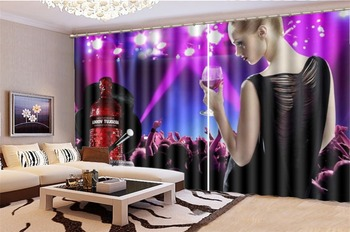 3d Curtain Price Music Night Sexy Girl Decoration Indoor Living Room Bedroom Kitchen Window Blackout Curtain