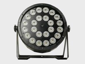 Image 5 - 8 adet/24x12w RGBW 4 in 1 Led Par ışıkları tam renkli Led düz Par ışık DMX512 Dj yıkama lambası
