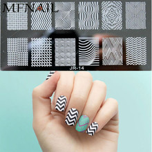 2018 New Stamping DIY Nail Plate Lace Flower/Wave Rectangle Transfer 3D Pattern Stencils 30 Styles JR01-30