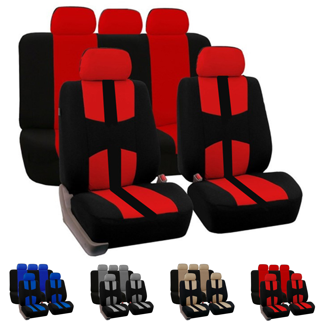 Dewtreetali Front Rear Car Seat Cover Universal Car Seat Protector Four Seasons font b Interior b