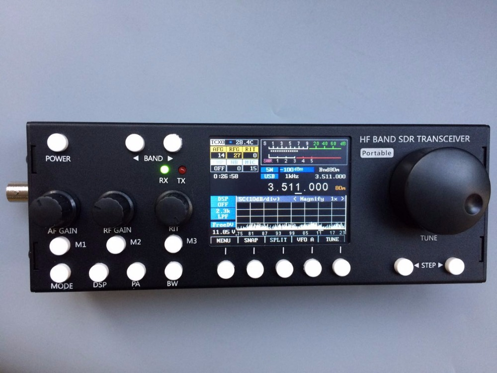 2018 New verison Built-in battery V6 RTC 10W 1-30M  HF QRP Transceiver SDR Transceiver AM CW,LSB,USB,AM,FM detroit diesel dddl 6x verison keygen