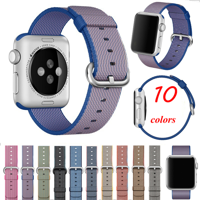 2016 new style woven nylon band Fabric smart watch bracelet replacement watchbands for iwatch sport watch strap for apple watch